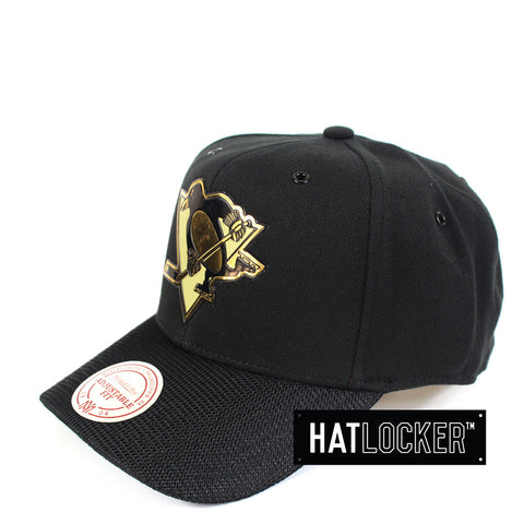 Mitchell & Ness - Pittsburgh Penguins Carat Curved Snapback
