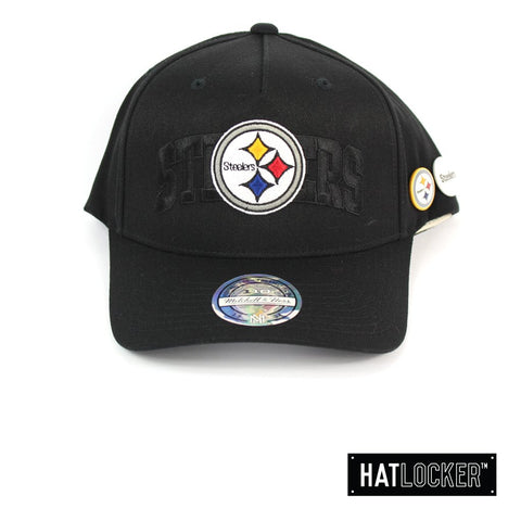 Mitchell and Ness Pittsburgh Steelers Nostalgia Black Curved Snapback