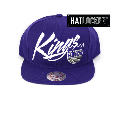 Mitchell & Ness Sacramento Kings Vice Script Snapback Hat
