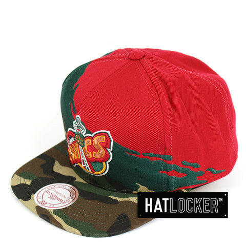 Mitchell & Ness Seattle Supersonics Camo Paintbrush Snapback Hat