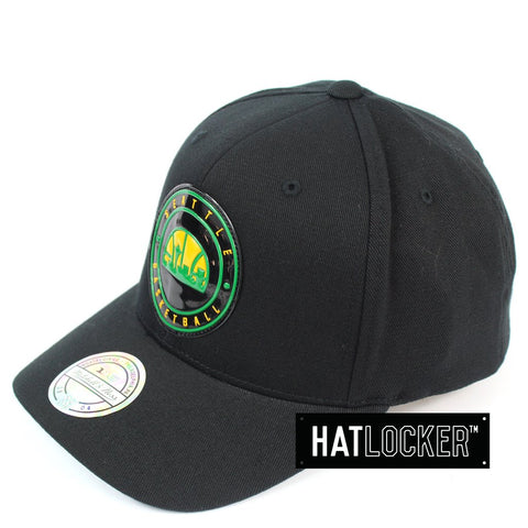 Mitchell and Ness Seattle SuperSonics Circle Weald Patch 110 Curved Snapback