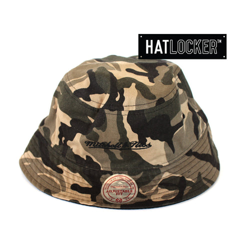 Mitchell & Ness Turnout Camo Black Bucket Hat