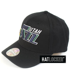 Mitchell & Ness Utah Jazz 110 Pinch Panel Curved Snapback Hat