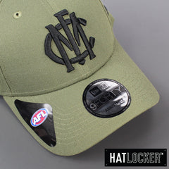 New Era Melbourne Demons 2020 Shadow Tech Olive Curved Snapback