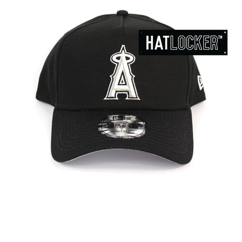 New Era Anaheim Angels Black and White Logo Curved Snapback