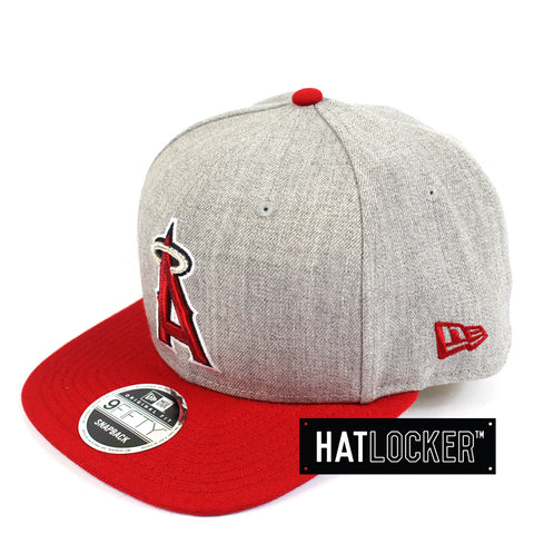New Era MLB Anaheim Angels Heather Grey Snapback Side Hat Locker Australia