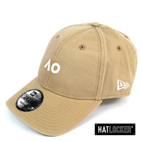 New Era Australian Open Camel White Logo Curved Strapback