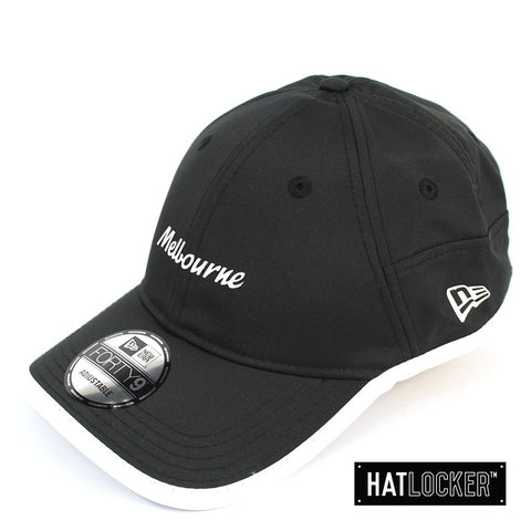 New Era Australian Open Melbourne Black White Logo Curved Strapback