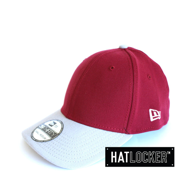 New Era - Basic Cardinal Grey Curved Brim Stretch Fit
