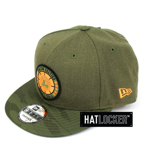 New Era Boston Celtics 2018 NBA Tip Off Army Snapback Hat
