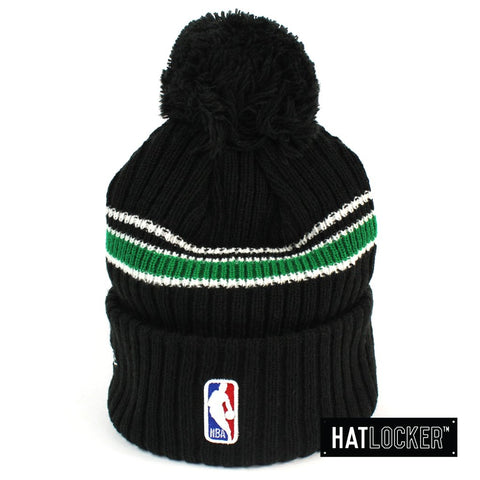 New Era Boston Celtics BH Series Black Pom Knit Beanie Australia