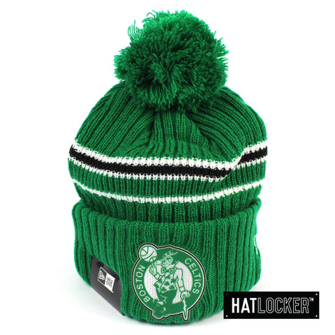 New Era Boston Celtics BH Series Team Green Pom Knit Beanie