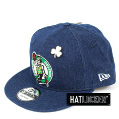 New Era Boston Celtics Denim Snapback Cap
