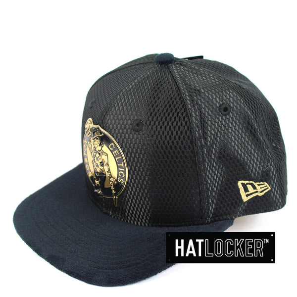 New Era - Boston Celtics On-Court Black Gold Snapback