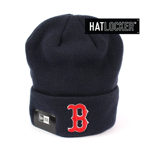 New Era Boston Red Sox OTC 6 Dart Navy Knit Beanie