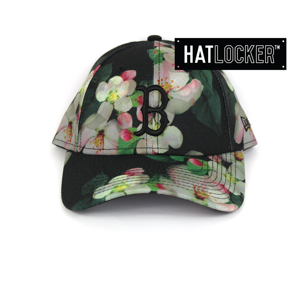 New Era Womens Boston Red Sox Black Floral Curved Brim Hat f69521ed723a