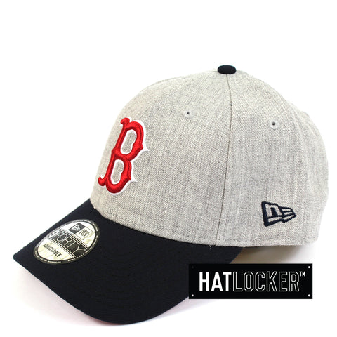 New Era Boston Red Sox Heather Grey Curved Brim