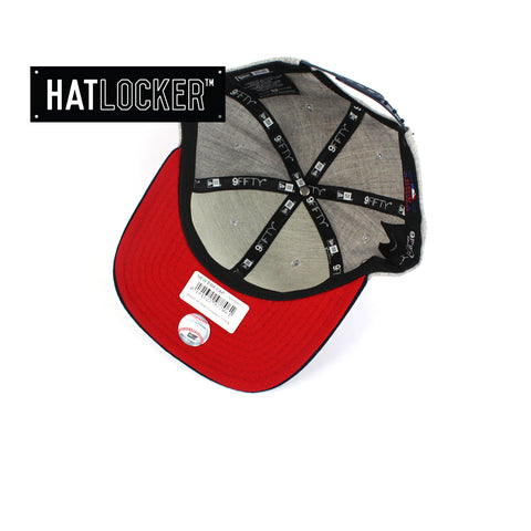 New Era MLB Boston Red Sox Heather Grey Snapback Under Hat Locker Australia