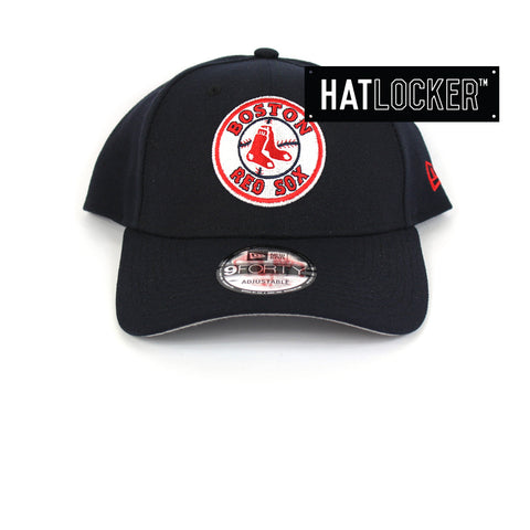 New Era Boston Red Sox Team Badge Curved Snapback Hat