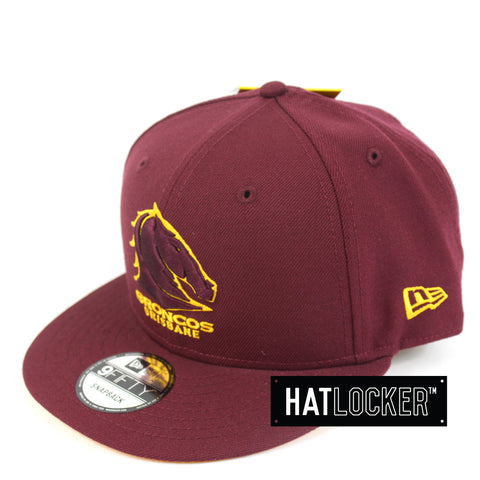 Hat Locker Australia New Era NRL Brisbane Broncos Core Snapback Hat Side