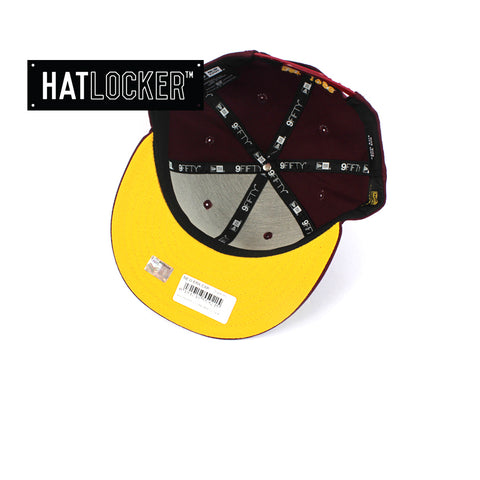Hat Locker Australia New Era NRL Brisbane Broncos Core Snapback Hat Under