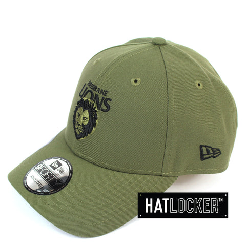 New Era Brisbane Lions 2020 Shadow Tech Olive Curved Snapback Cap