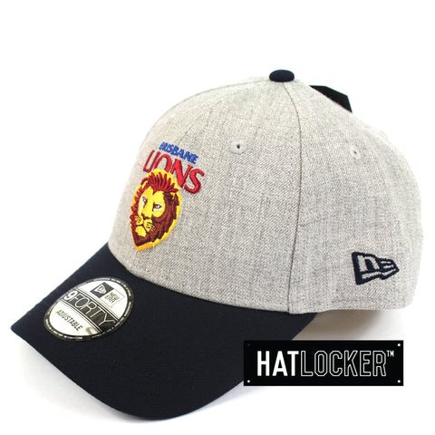New Era Brisbane Lions Heather Curved Snapback Hat