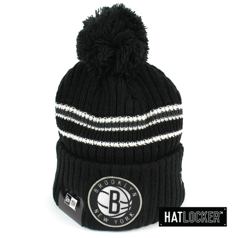 New Era - Brooklyn Nets BH Series Black Pom Knit Beanie