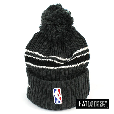 New Era Brooklyn Nets BH Series Team Grey Pom Knit Beanie