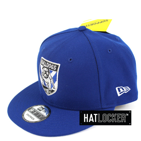 Hat Locker Australia New Era NRL Cantebury Bulldogs Core Snapback Hat Side