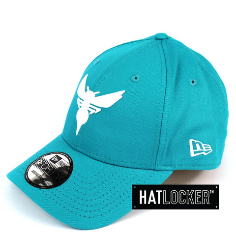 New Era Charlotte Hornets Teal Team Pop Curved Strapback