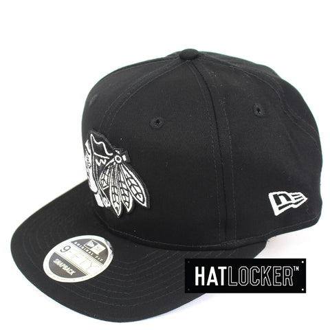 New Era Chicago Blackhawks Chi-Town B&W Snapback Hat