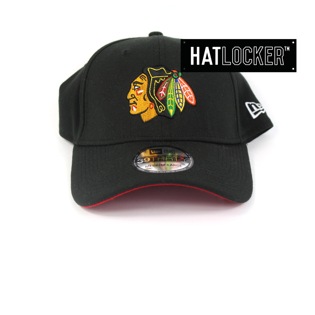 New Era Chicago Blackhawks Team Stretch Curved Brim Hat