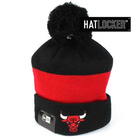 New Era Chicago Bulls Pom Knit Beanie