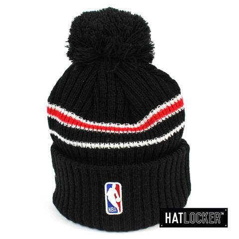 New Era - Chicago Bulls BH Series Black Pom Knit Beanie