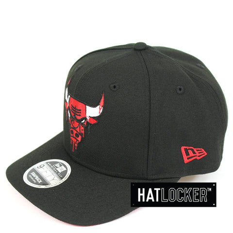New Era Chicago Bulls Double Dribble Black Precurved Snapback
