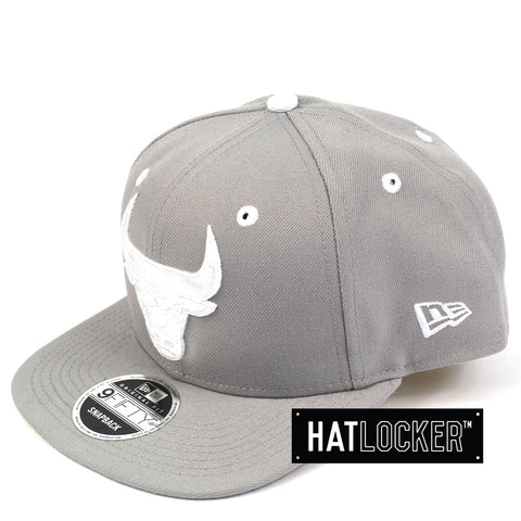 New Era Chicago Bulls Grey Wheat Snapback Hat
