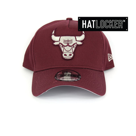 New Era Chicago Bulls Maroon Curved Brim Snapback Hat