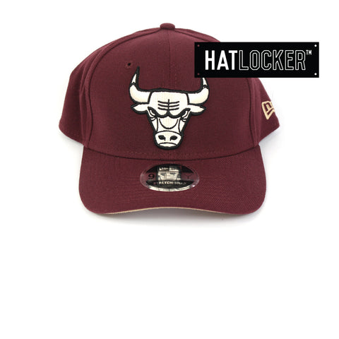 New Era Chicago Bulls Maroon Precurved Snapback Cap
