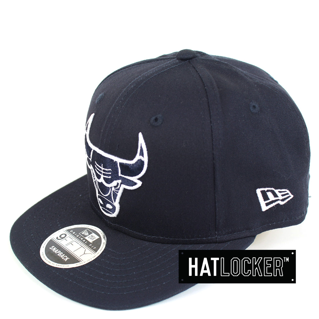 New Era Chicago Bulls Navy Cotton Classic Snapback Hat