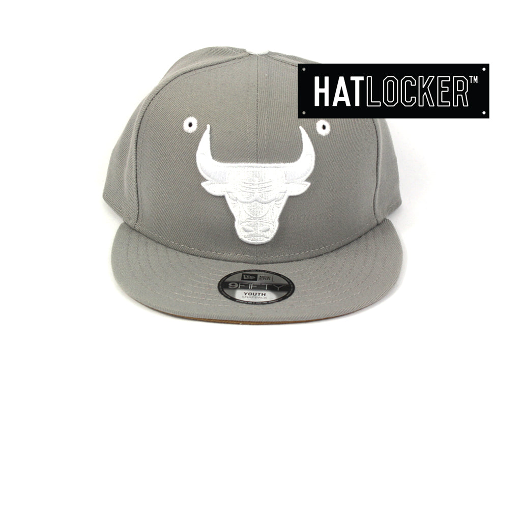 New Era Chicago Bulls Grey Wheat Youth Snapback Cap