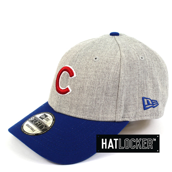 New Era Chicago Cubs Heather Grey Curved Brim Hat