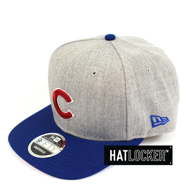 New Era MLB Chicago Cubs Heather Grey Snapback Side Hat Locker Australia