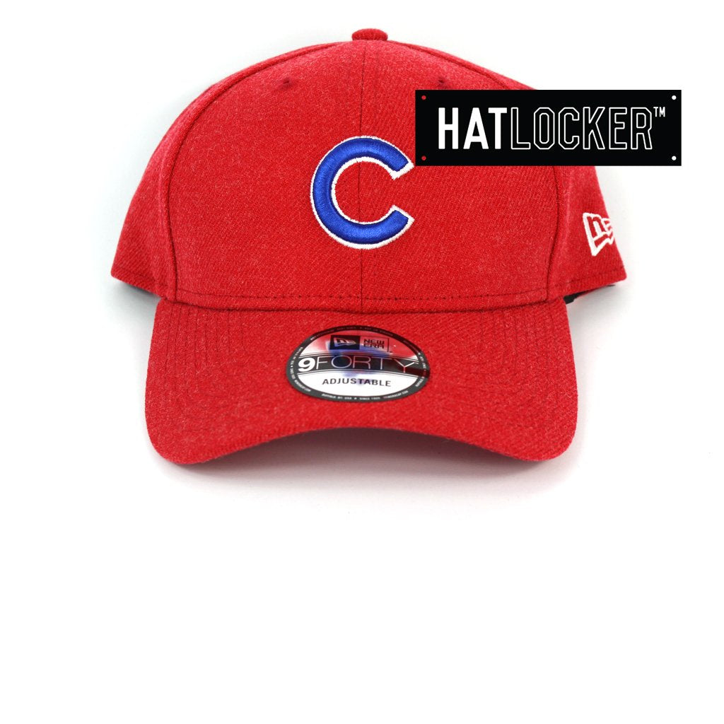 New Era Chicago Cubs Scarlet Heather Curved Snapback