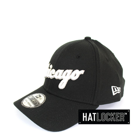 New Era - Chicago White Sox Script Black Curved Brim Stretch Fit