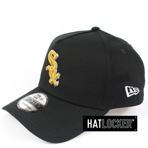 New Era Chicago White Sox White Gold Curved Snapback Hat
