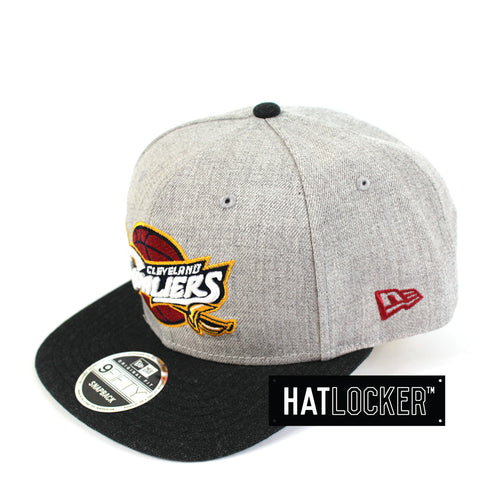 New Era - Cleveland Cavaliers Heather Grey Black Snapback