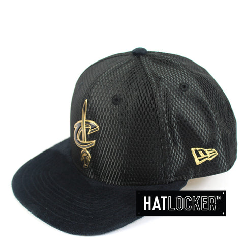New Era - Cleveland Cavaliers On-Court Black Gold Snapback