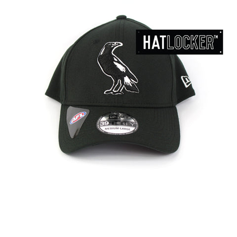 New Era Collingwood Magpies 2019 Core Curved Stretch Fit Hat