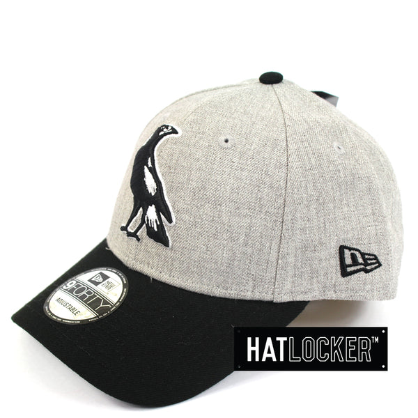 New Era - Collingwood Magpies Heather Curved Snapback